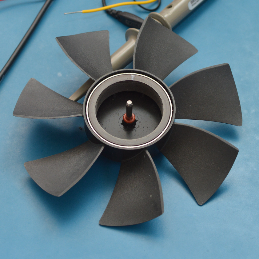 BLDC fan, showing the rotor part with the permanent magnet